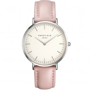 Rosefield the Bowery 38mm White Pink Silver BWPS-B8