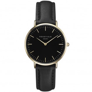 Rosefield The Tribeca Black Black Gold TBBG-T56