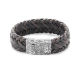 Rebel & Rose Big Braided Raw Vintage Black-Earth Armband L