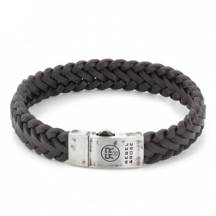 Rebel & Rose Braided Raw Mat Earth Armband M