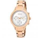 Liu-Jo Layered Chrono TLJ1570 Rosegold Horloge
