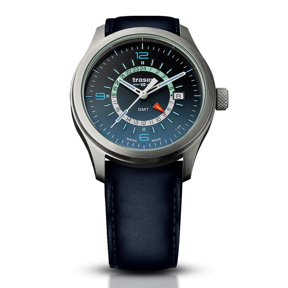 Traser P59 Aurora GMT Blue Leather