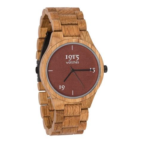 Image of 1915 Watch Fine Cotton 46mm Madder 12029886