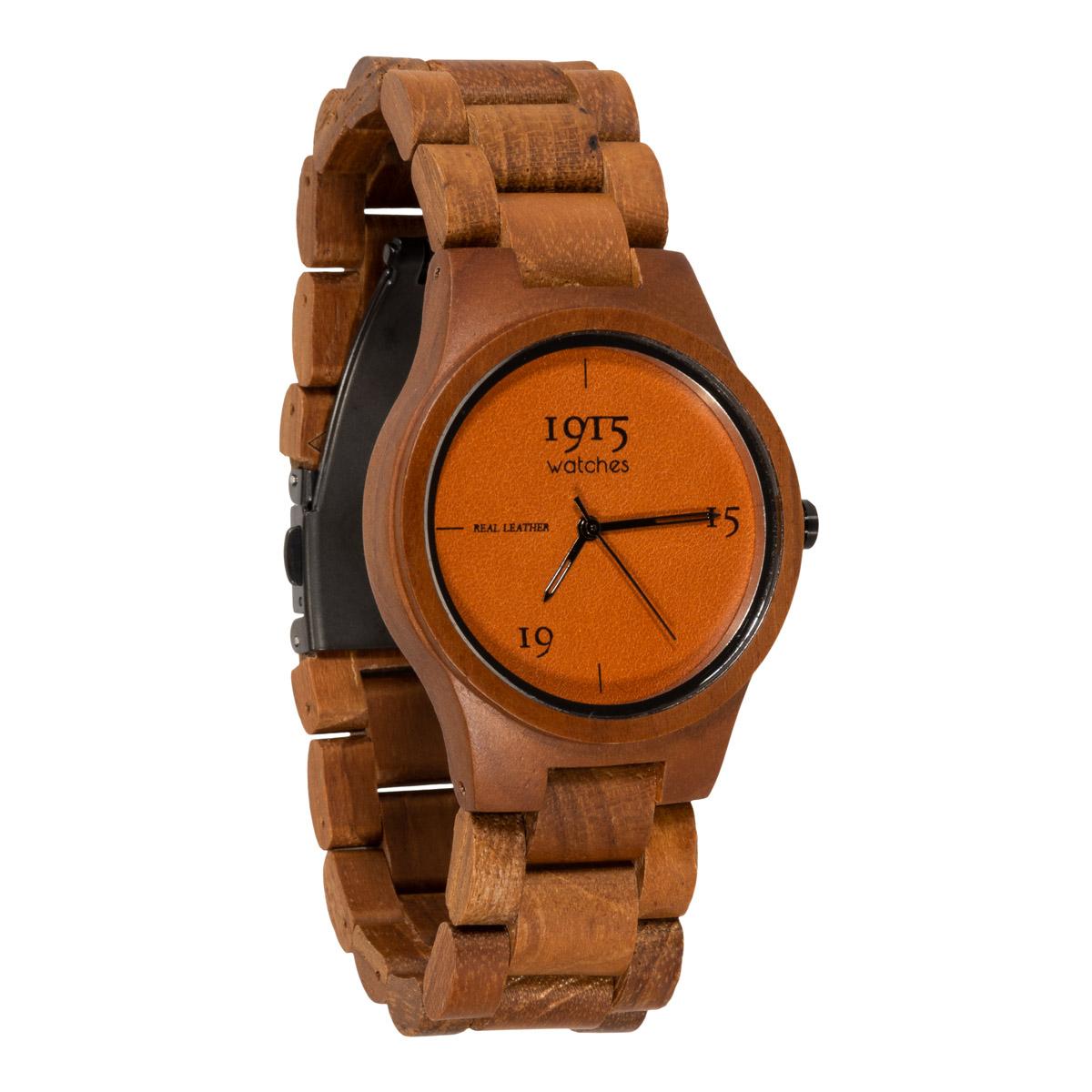 Image of 1915 Watch Real Leather 38mm Horloge Cognac 12037317