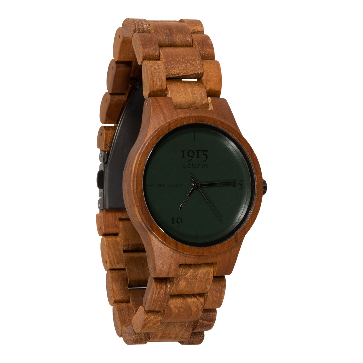 Image of 1915 Watch Real Leather 38mm Horloge Night Green 12037319