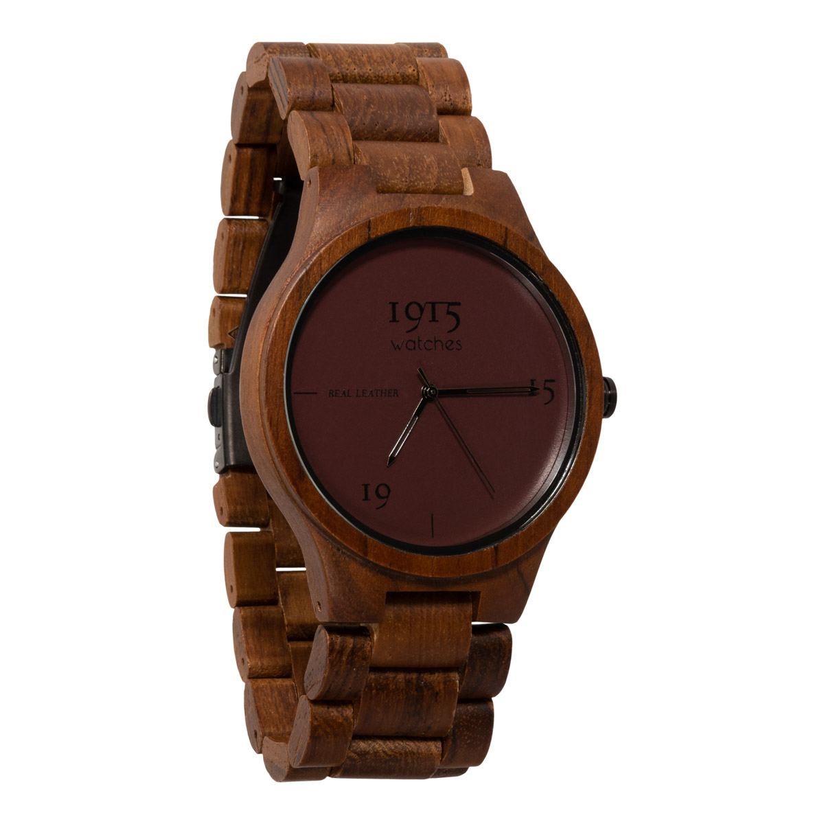 Image of 1915 Watch Real Leather 46mm Horloge Bordeaux 12037315