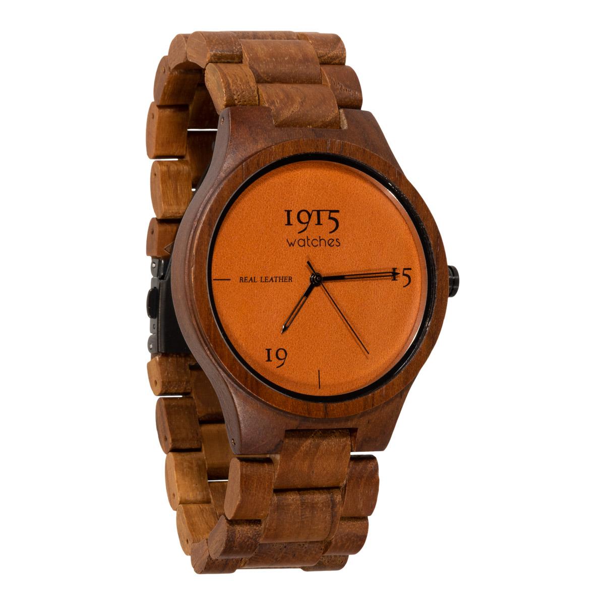 Image of 1915 Watch Real Leather 46mm Horloge Cognac 12037313