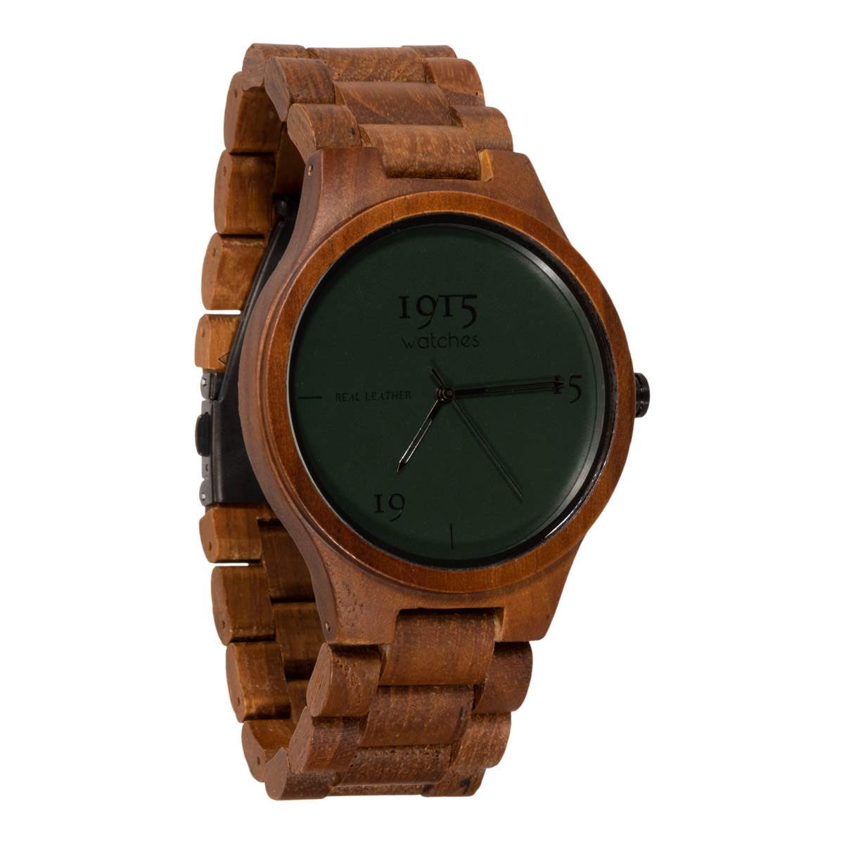 Image of 1915 Watch Real Leather 46mm Horloge Night Green 12037316