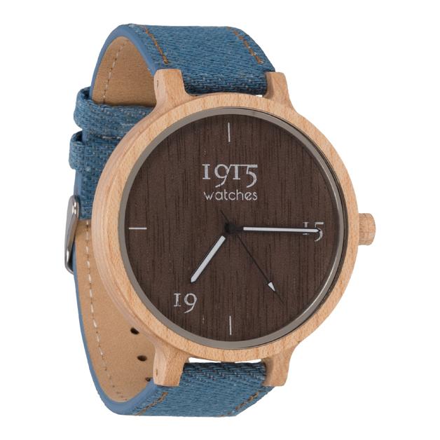 Image of 1915 Watch Raw Denim 46mm Horloge 12035297