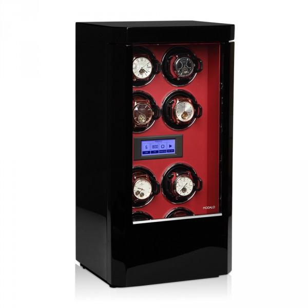 Modalo Royal MV3 Zwart Rood voor 8 horloges