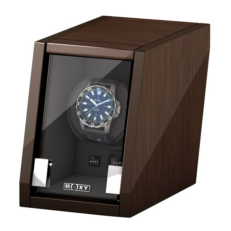 Beco Boxy Castle Walnut Watchwinder