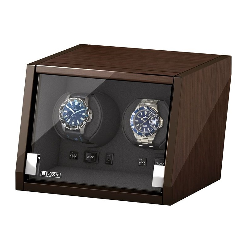 Beco Boxy Castle Walnut Watchwinder 2 Horloges