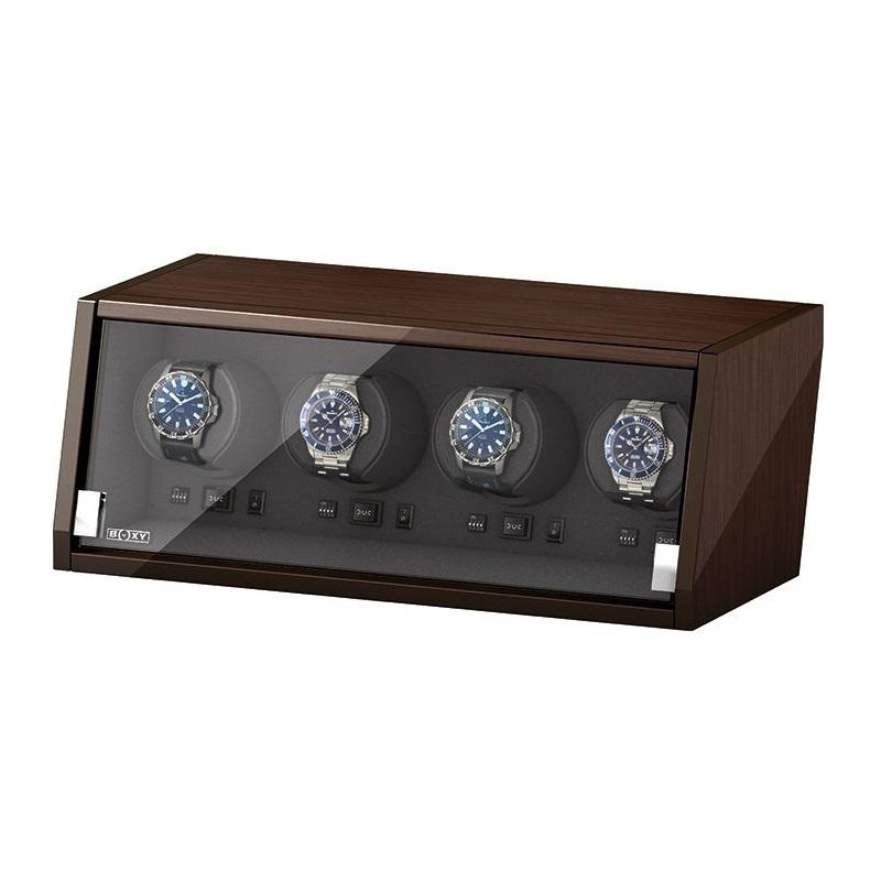Beco Boxy Castle Walnut Watchwinder 4 Horloges