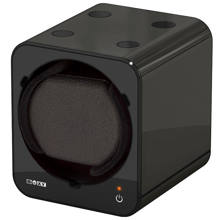 Beco Boxy Fancy Brick Black Watchwinder