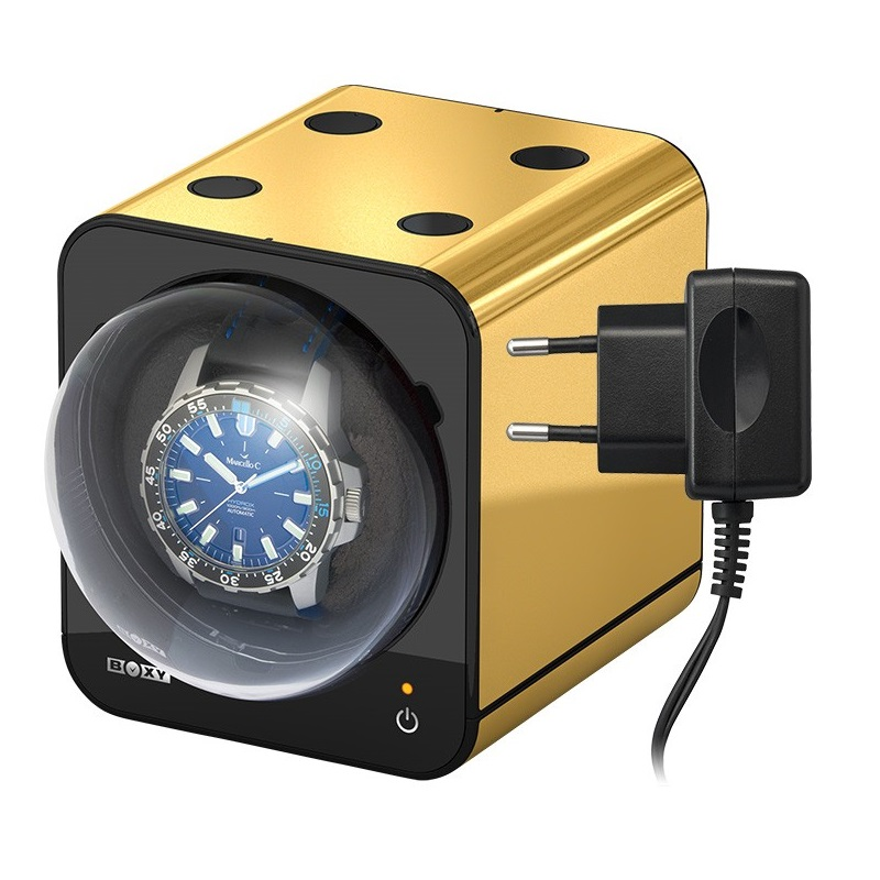 Beco Boxy Fancy Brick GOLD Watchwinder plus Adapter