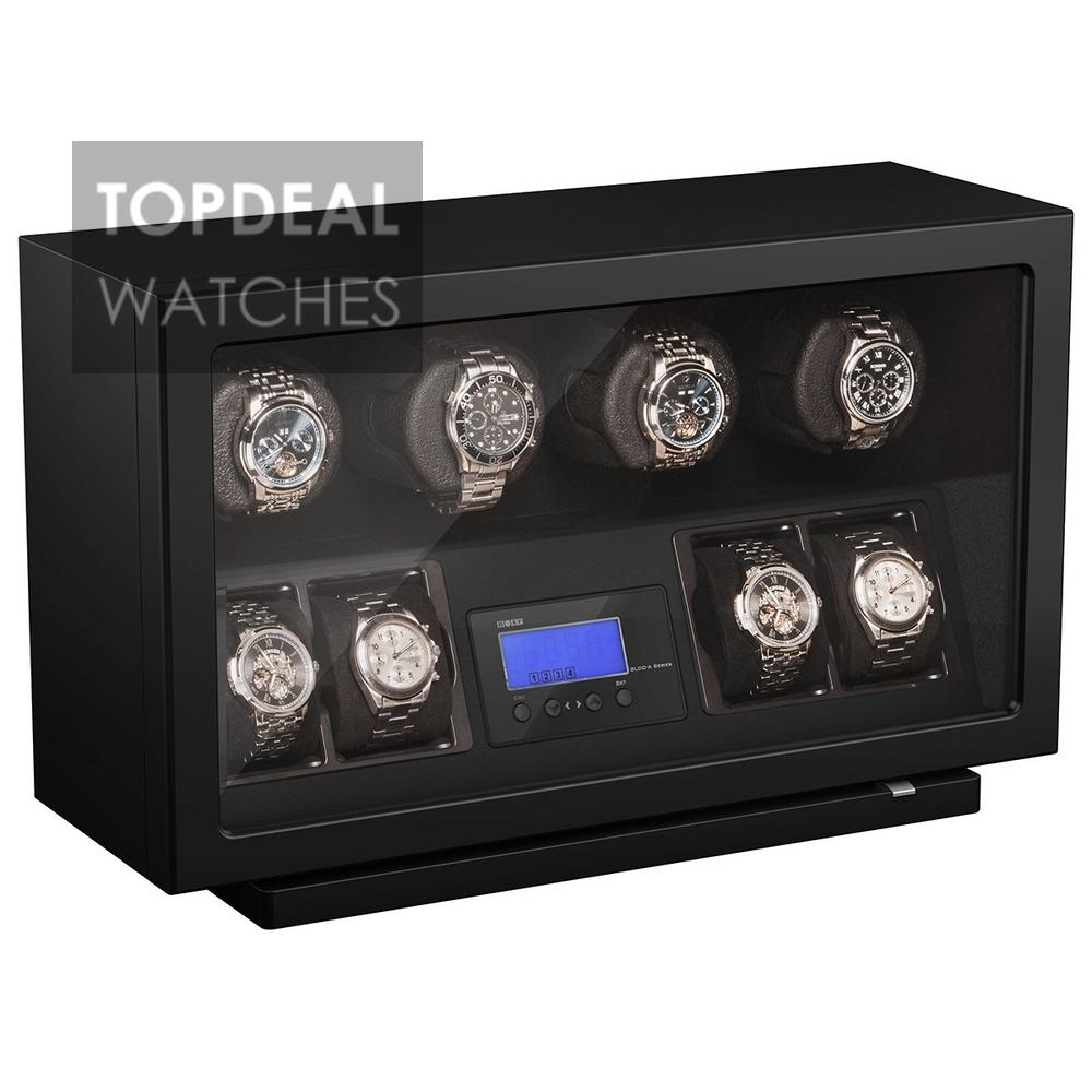 Beco BLDC Black Watchwinder voor 4 plus 4 horloges