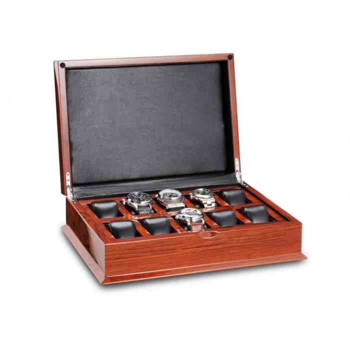 Ferocase Phantom Mahogany Horlogekist Voor 10 Horloges