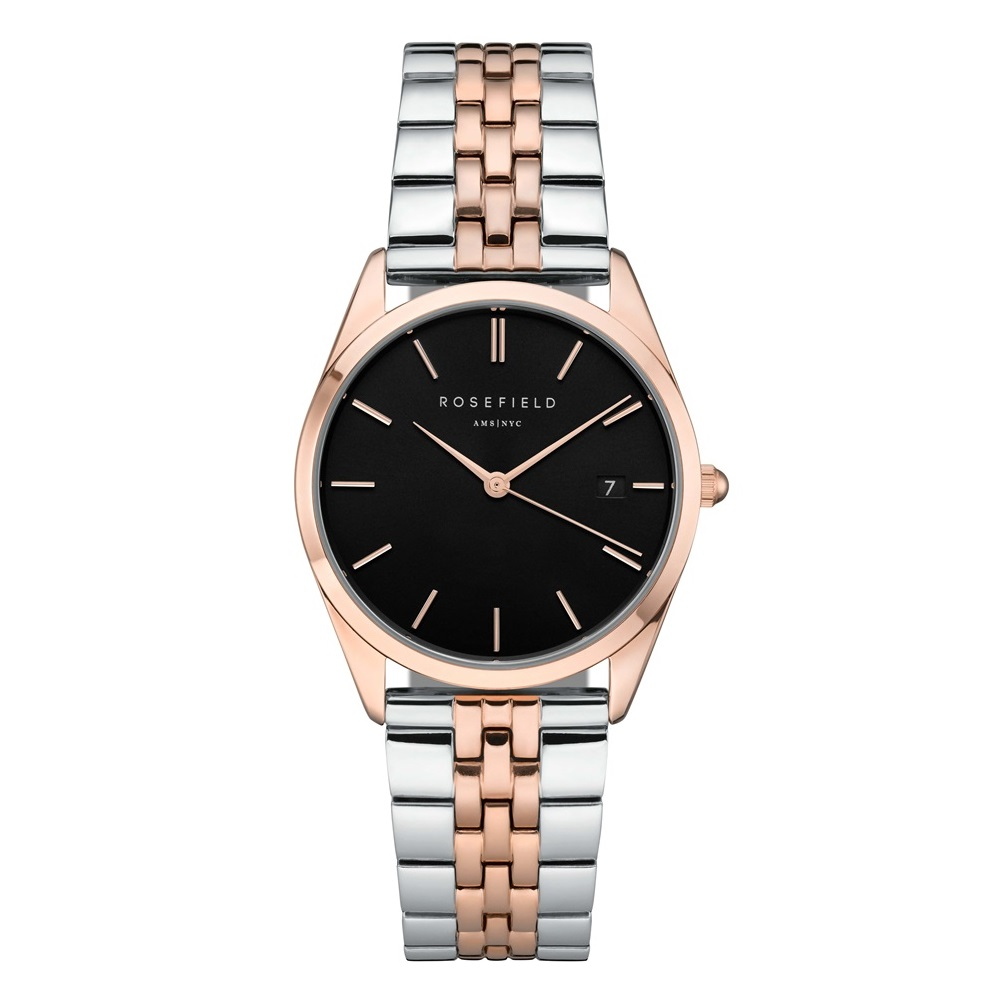 Rosefield The Ace Black Silver Rosegold Duo