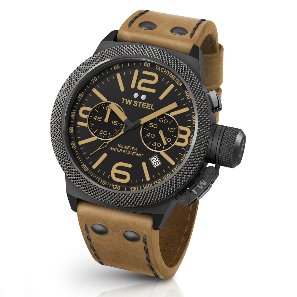 TW Steel Canteen Leather CS44 Chrono 50mm