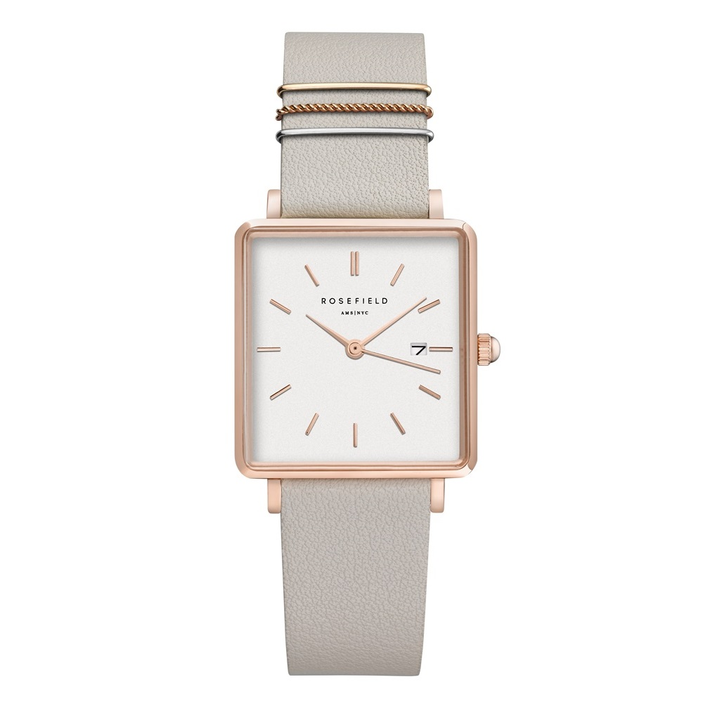 Rosefield The Boxy White Cool Grey Rosegold