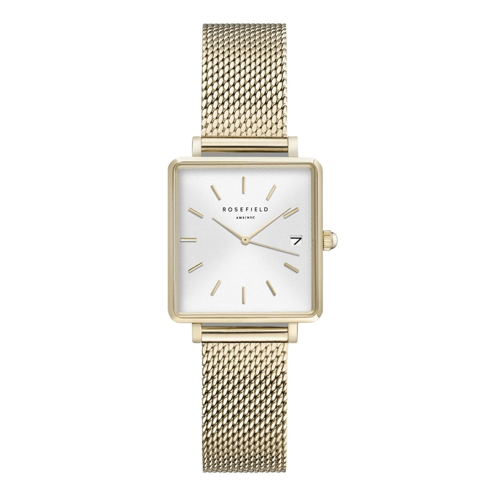Rosefield The Boxy XS White Sunray Mesh Gold