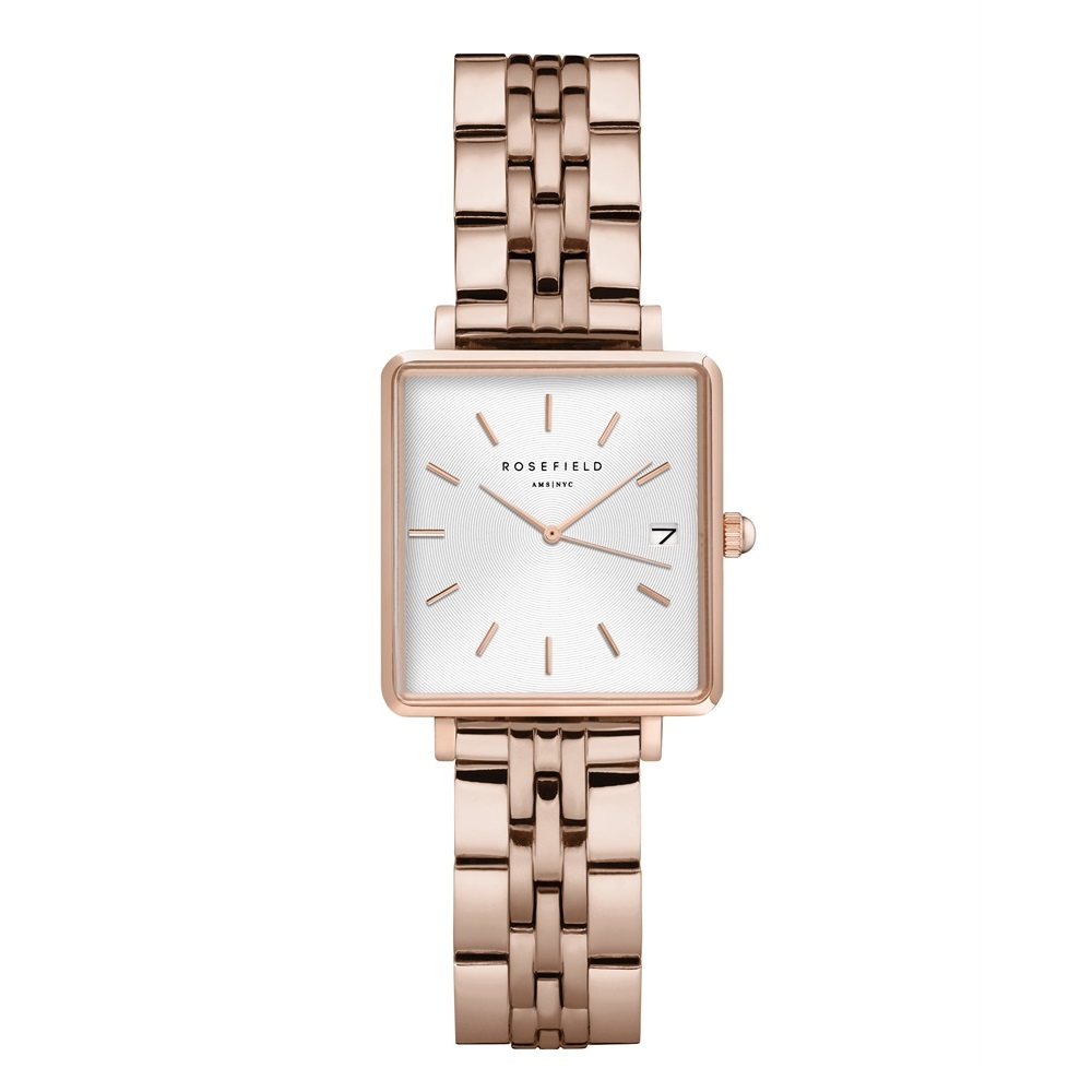 Rosefield The Boxy XS White Sunray Steel Rosegold