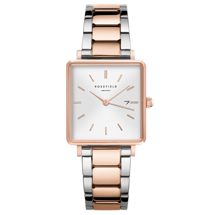 Rosefield The Boxy White Sunray Steel Rosegold Duo