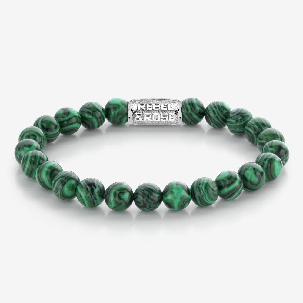 Rebel & Rose Armband Malachite Green L