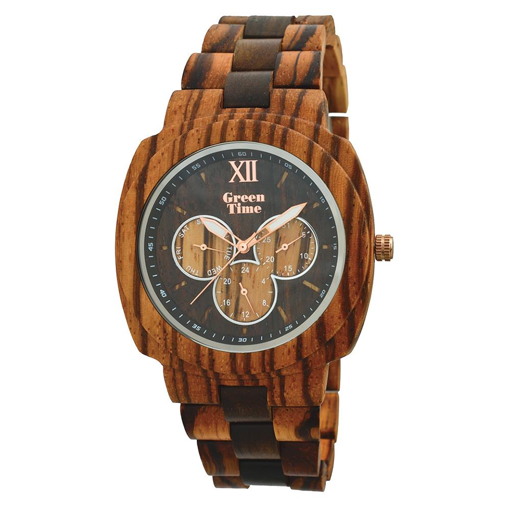 GreenTime ZW049A Square Houten Horloge