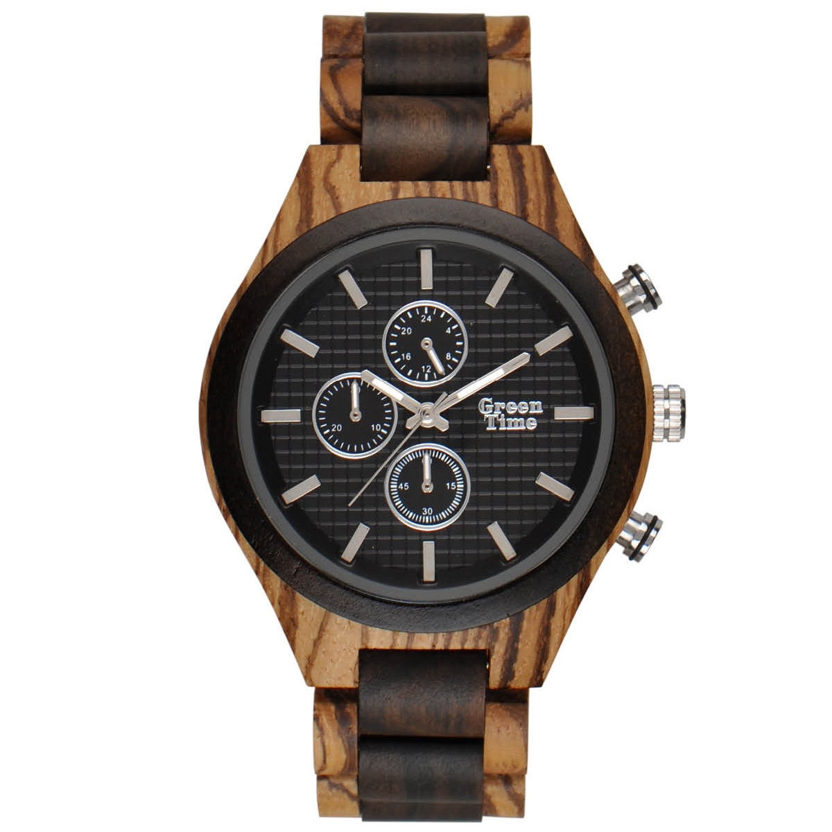 GreenTime ZW101A Houten Horloge 46mm
