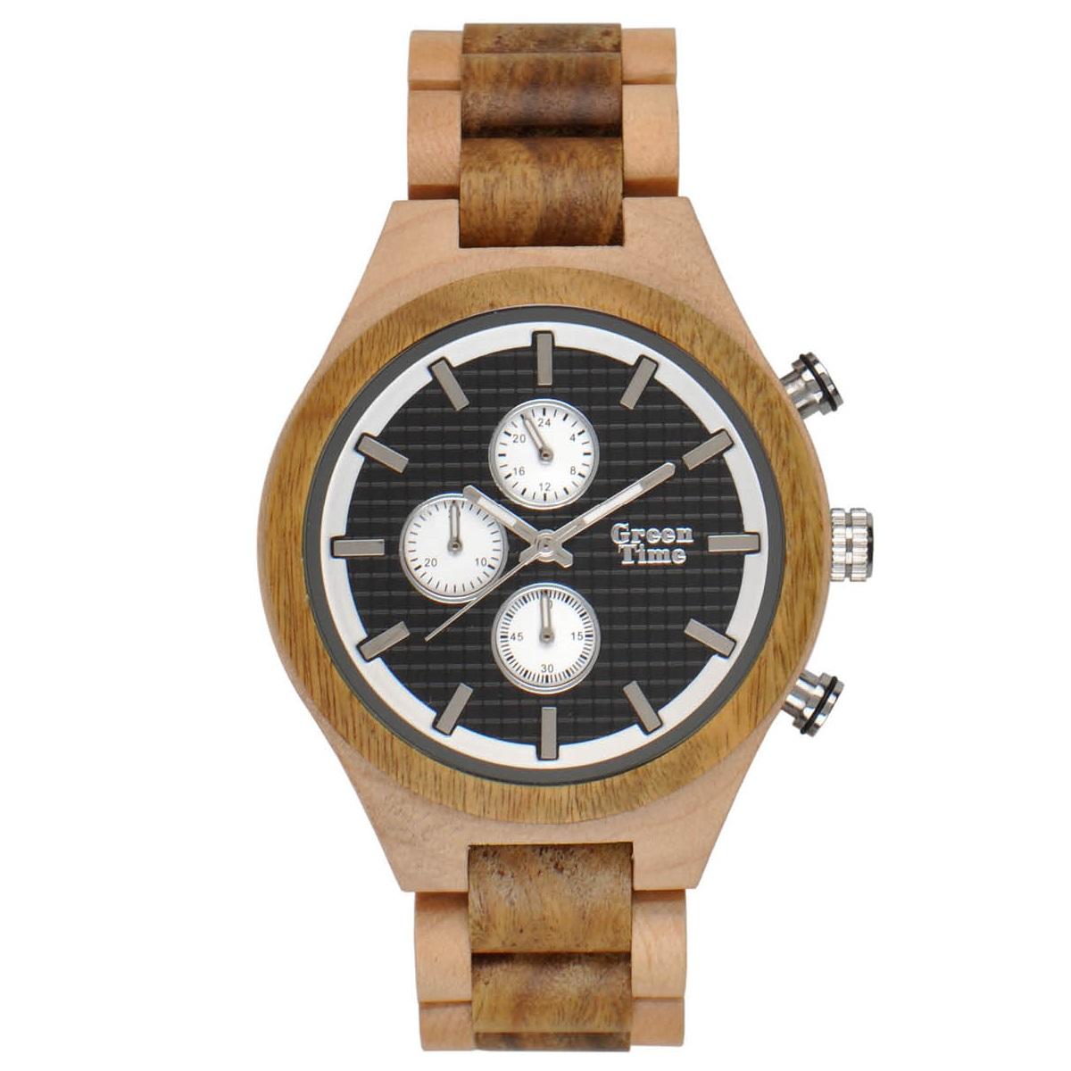 GreenTime ZW101B Houten Horloge 46mm