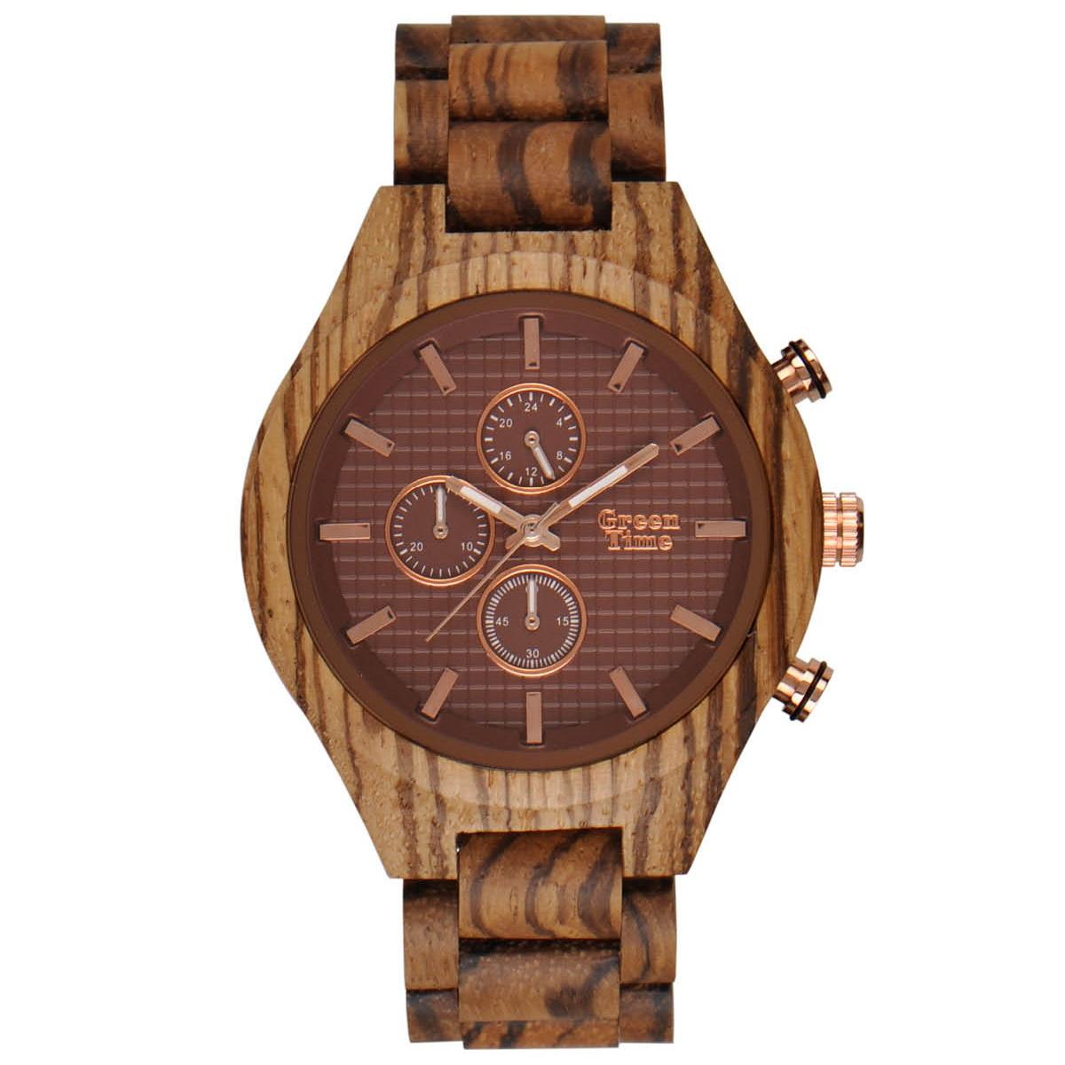 GreenTime ZW101C Houten Horloge 46mm