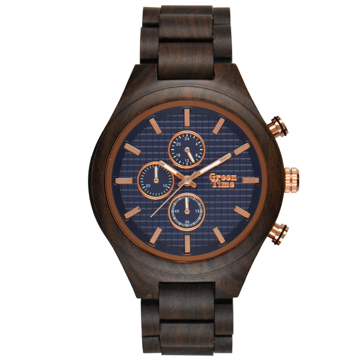 GreenTime ZW101D Houten Horloge 46mm