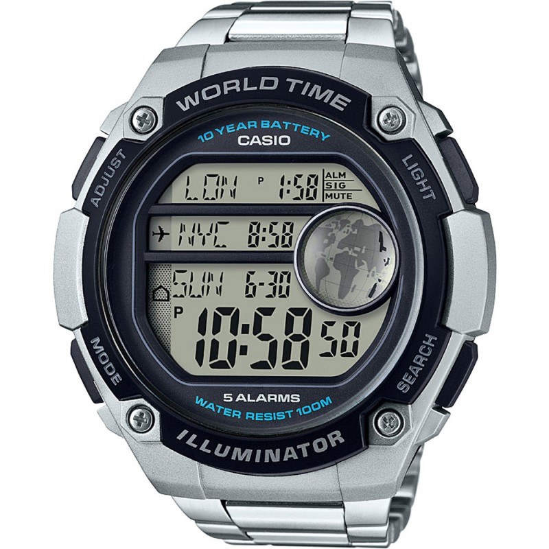 Casio Collection AE-3000WD-1AVEF Triple Time