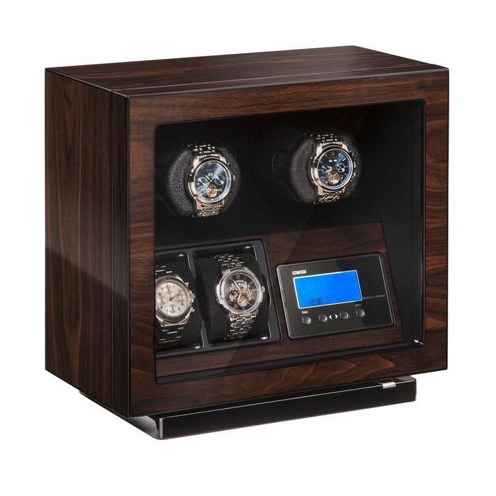 Beco BLDC Walnut Watchwinder voor 2 plus 2 horloges