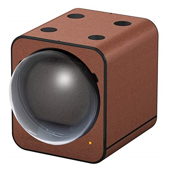 Beco Boxy Fancy Brick BROWN Leather Watchwinder
