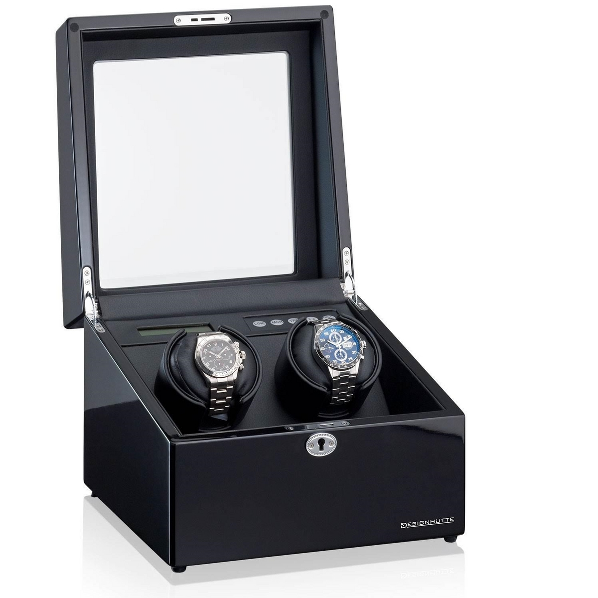 Designhuette Watchwinder Munchen 2 LCD Zwart