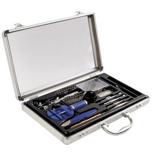 Bruder mannesmann horlogemakers gereedschapset in handige aluminium koffer met zichtvenster, voor de meest ...