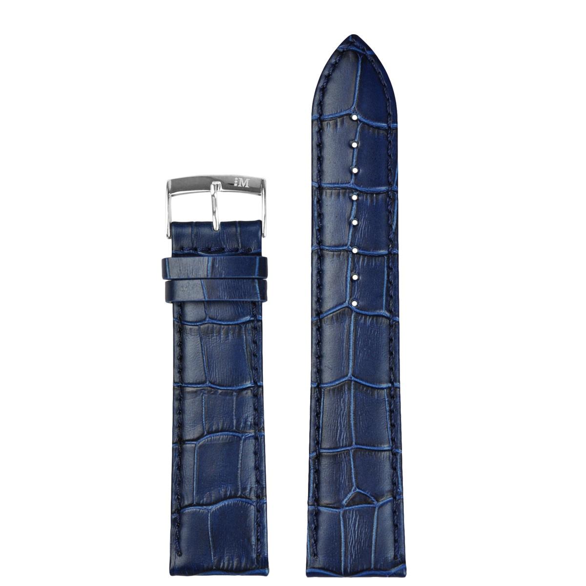 Morellato PMX061BOLLE IG - Horlogebandje - Leer - Blauw - 20 mm