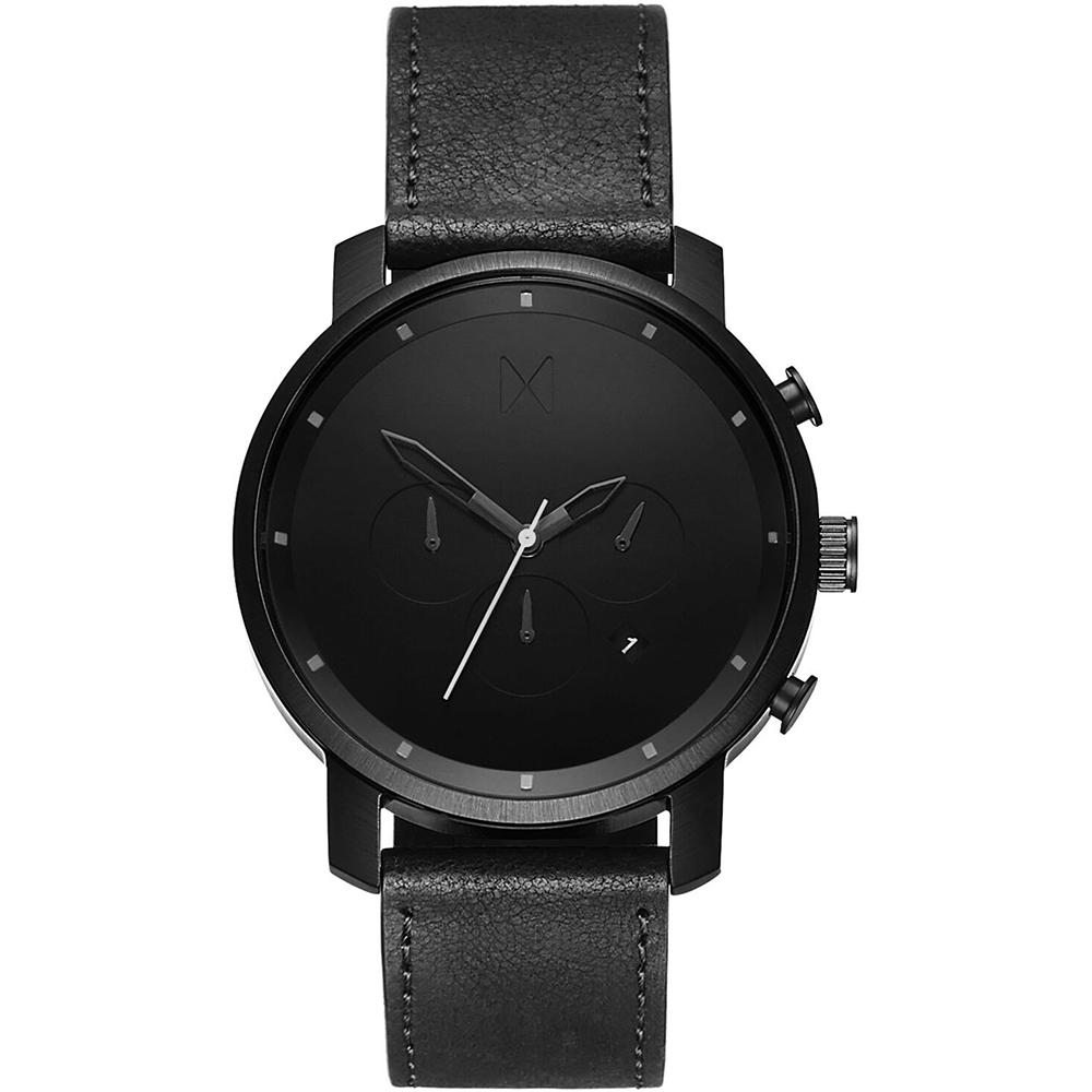 MVMT Chrono 45mm Black Leather
