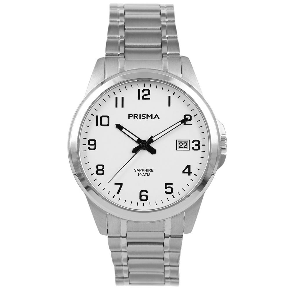 Prisma Horloge P.1272 Heren Titanium Saffierglas 10 ATM