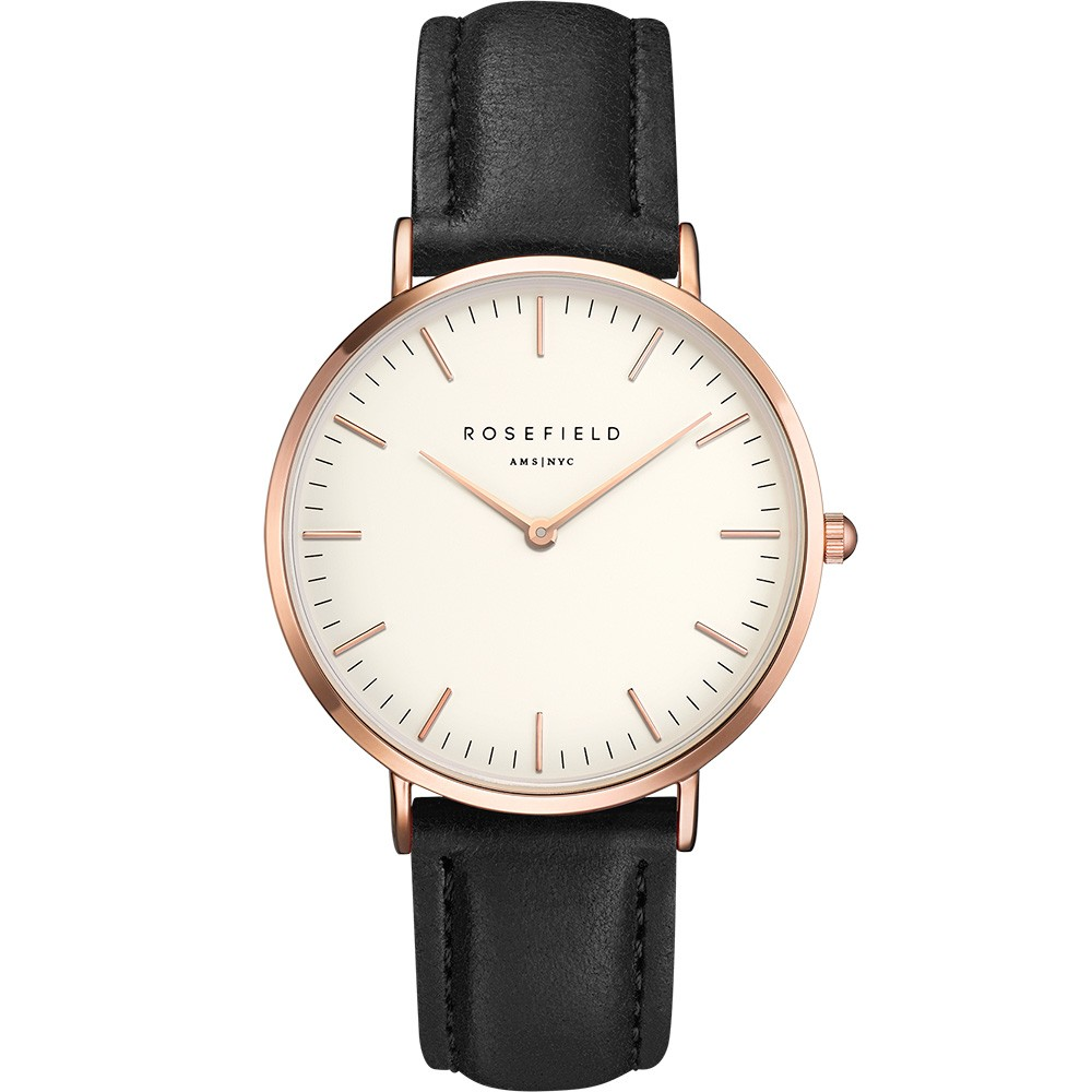 Rosefield the Bowery 38mm White Black Rosegold BWBLR-B1