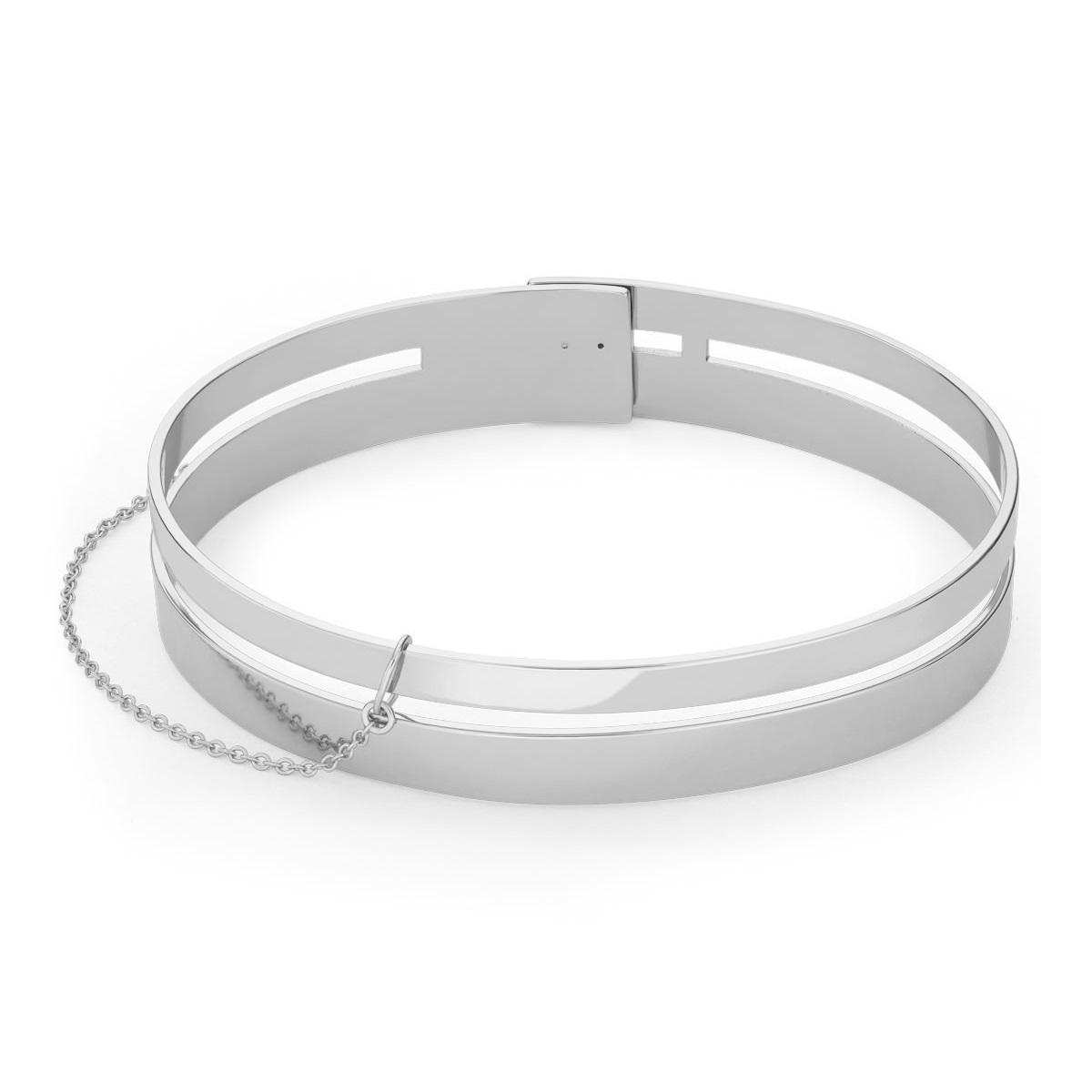 Rosefield Armband Double Bar Bangle Silver