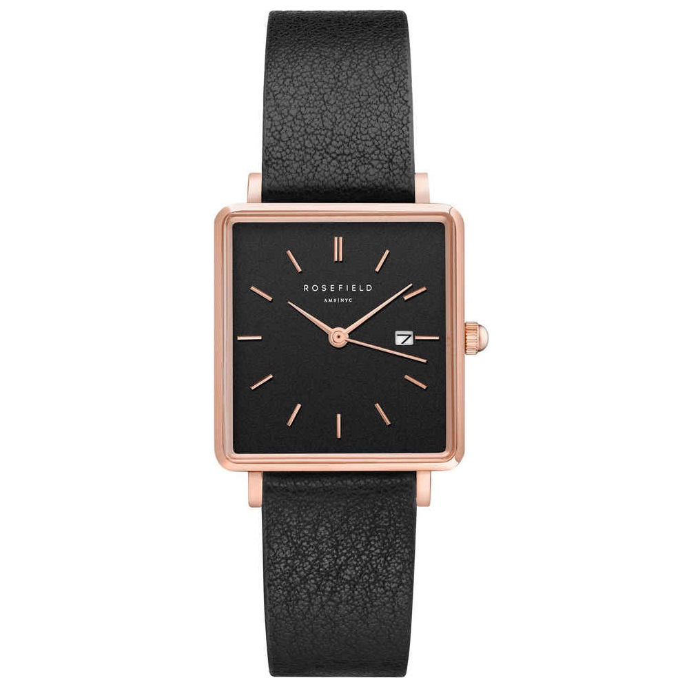 Rosefield The Boxy Black Black Rosegold