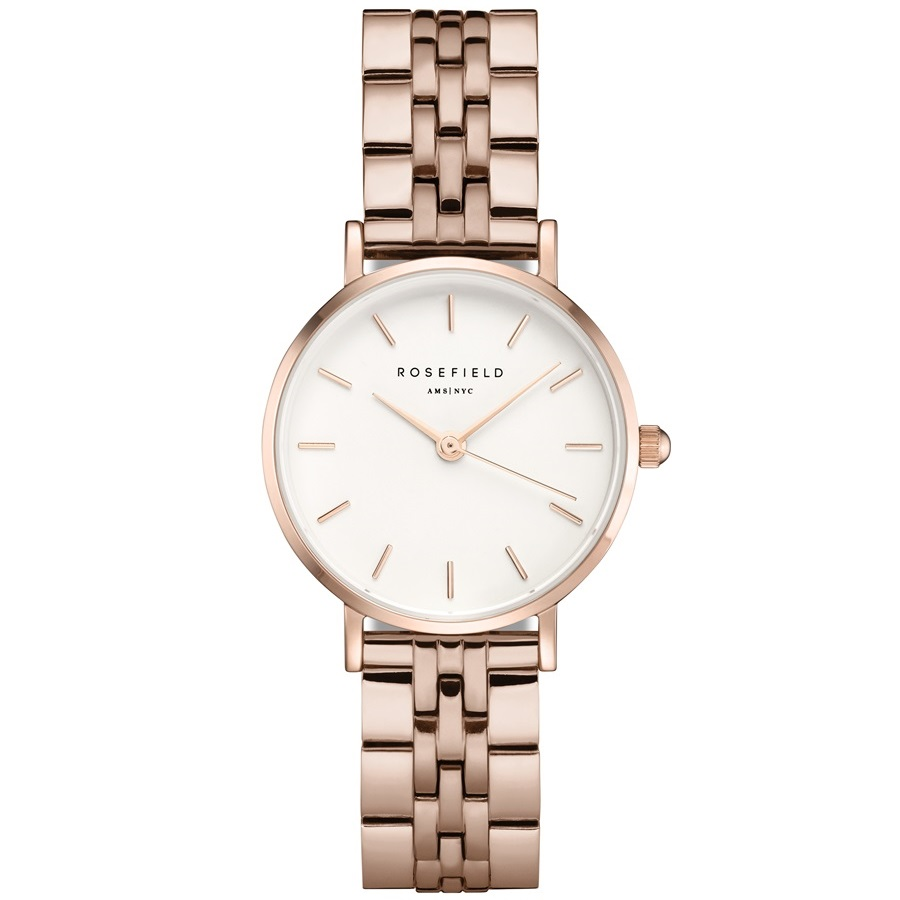 Rosefield The Small Edit White Steel Rosegold