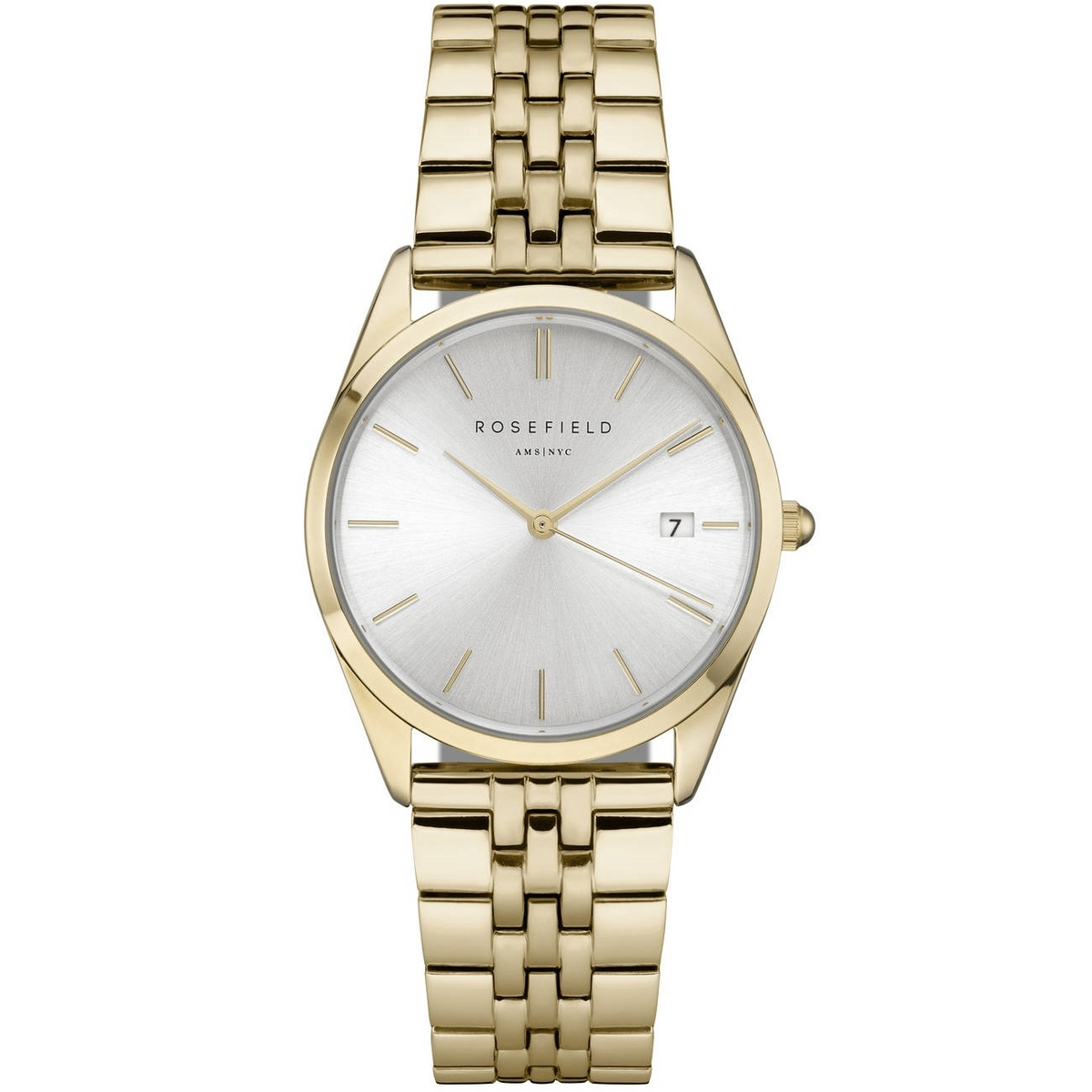 Rosefield The Ace Silver Sunray Gold Horloge