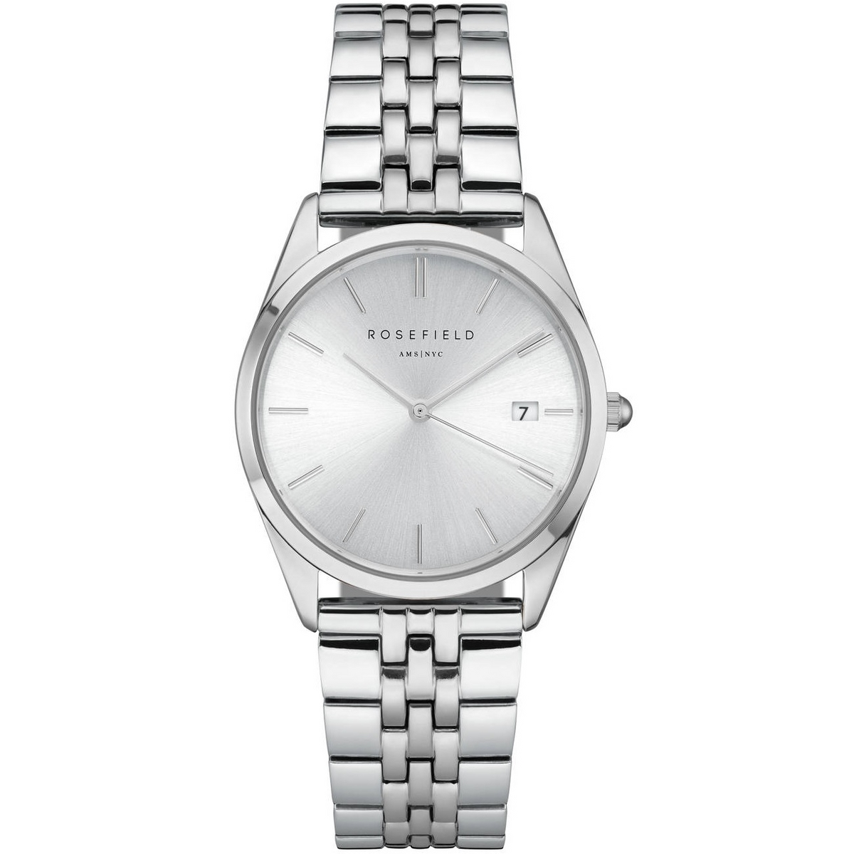 Rosefield The Ace Silver Sunray Silver Horloge