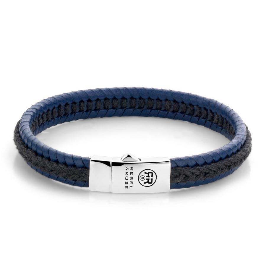 Rebel & Rose Twisted Black-Blue Armband L
