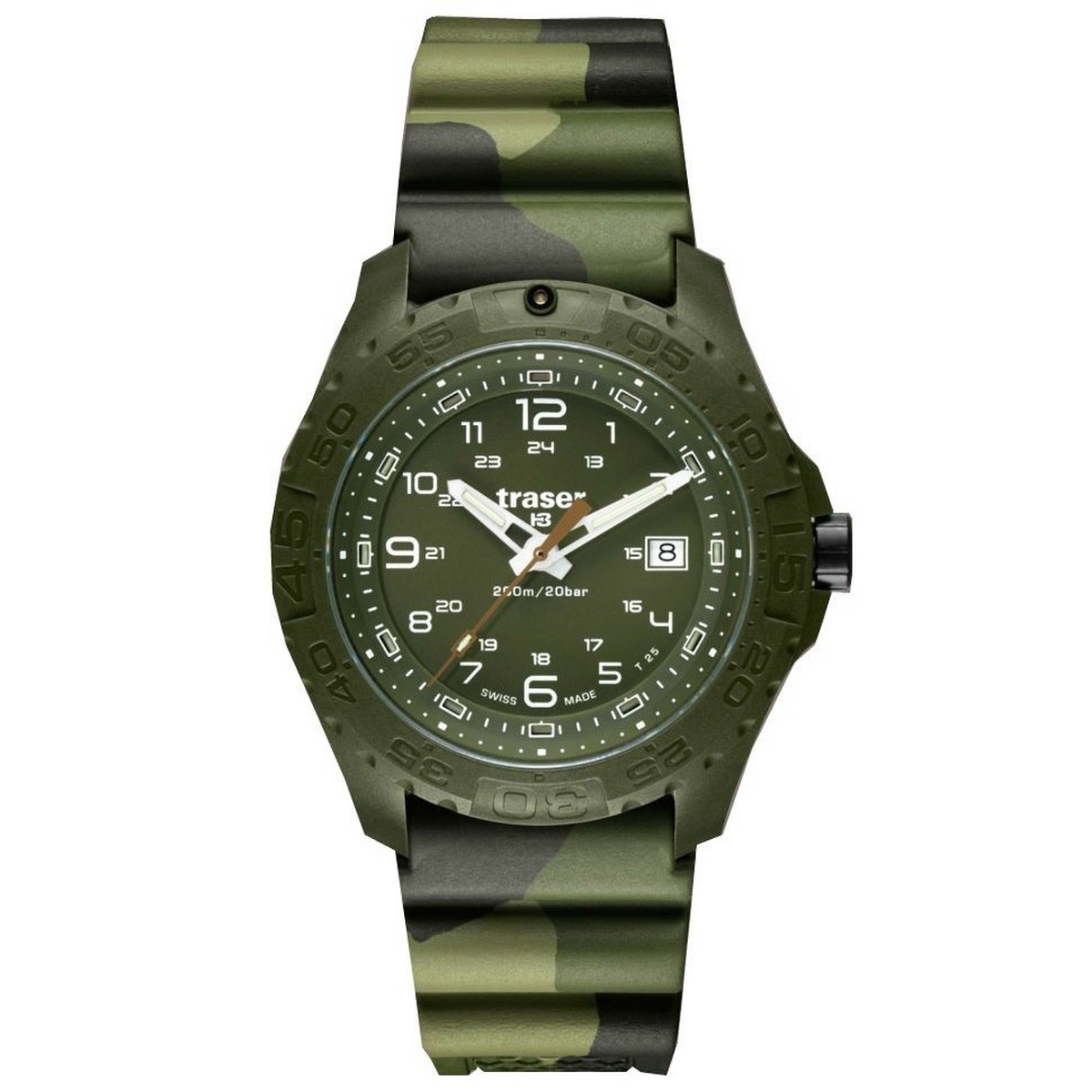 Traser P96 Soldier Camouflage Rubber Horloge