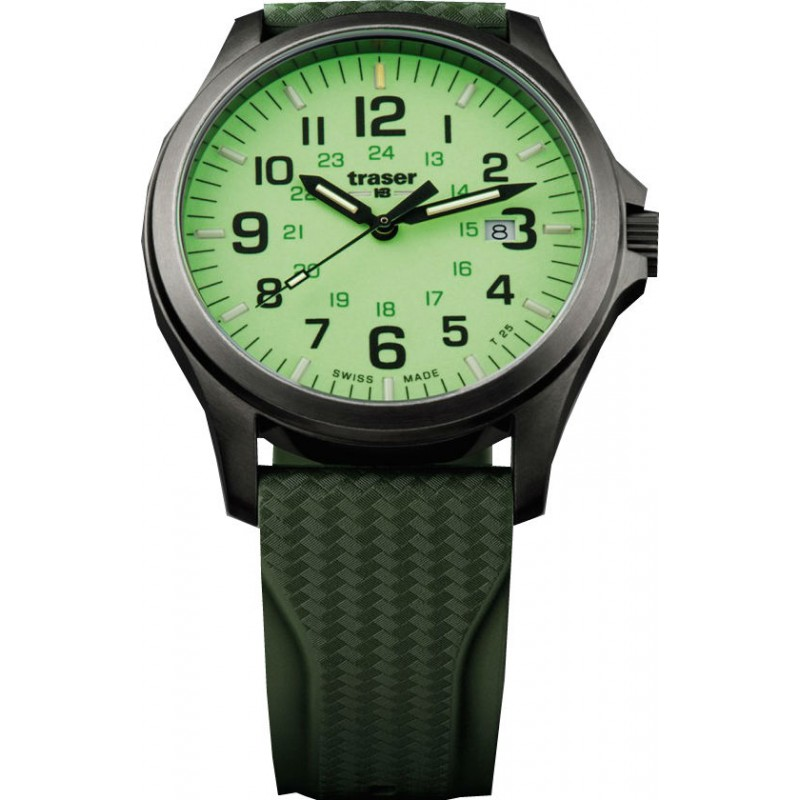 Traser Officer Pro Gunmetal Lime Horloge